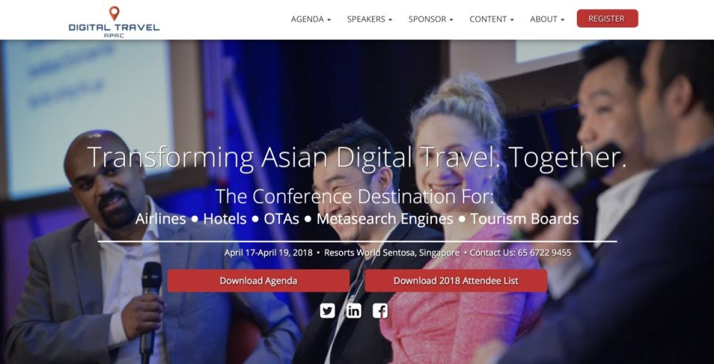 JOIN US AT DIGITAL TRAVEL APAC 2018