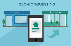 Geo conquesting specifically targets customers who are physically in or around the competitor's place