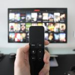 Remote control and smart tv, connected TV and over-the-top box