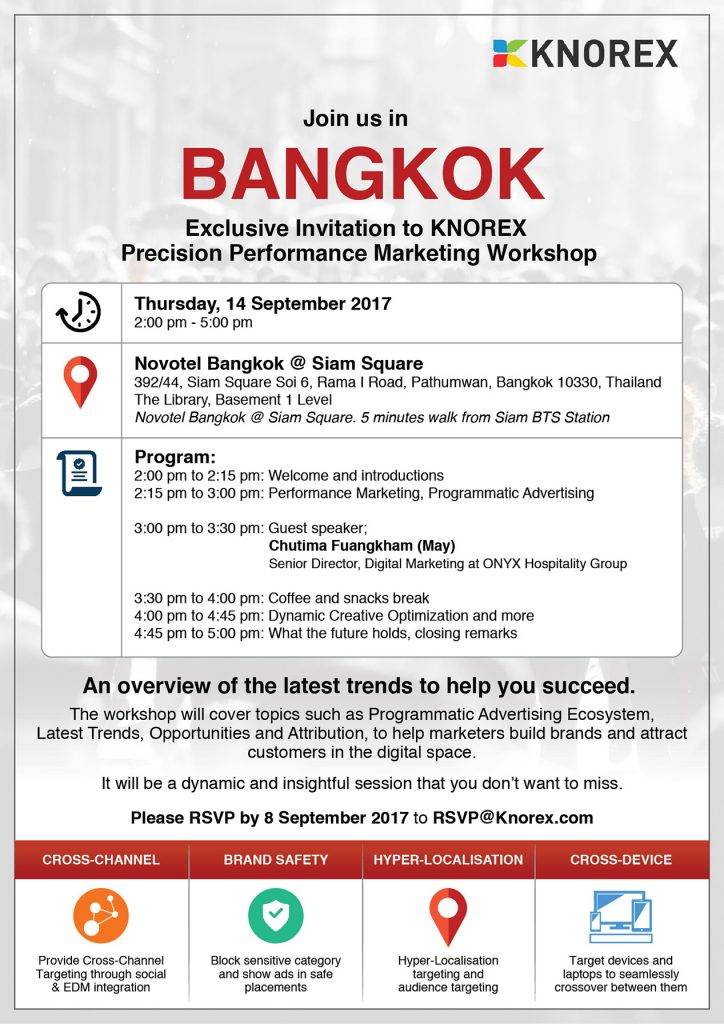 KNOREX Workshop in Bangkok – Join Us 3