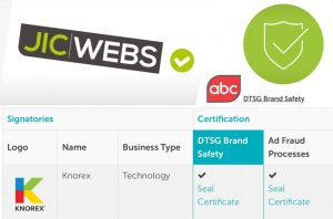 DTSG / JICWEBS Brand Safety Certification